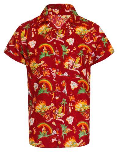 HAWAIIAN SHIRT MENS PALM TREE BEACH HOLIDAY PARROT FANCY DRESS STAG PARTY PIZZA