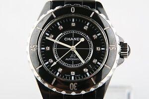 58149b7c40b Chanel J12 Diamond Dial Steel Black Ceramic H0685 Automatic Wrist ...