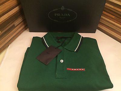 PRADA Polo Poloshirt Polohemd Kurzarm Grün S NEU,PRADA Trendy Green Polo Shirt S