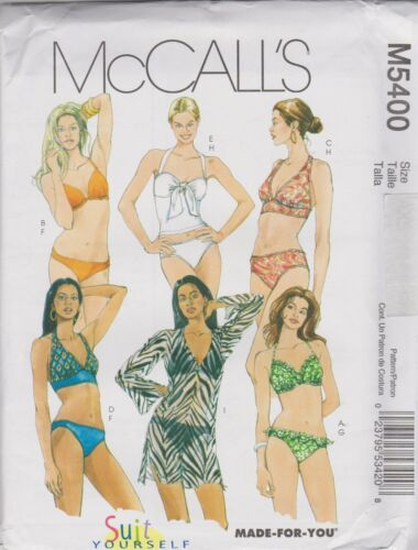 From UK Sewing Pattern 2 Piece Bathing Suit and Cover-Up Sizes 12-18  #5400