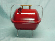 Vintage Usa Red Little Pal Portable Charcoal Grill Smoker Tailgate Barbeque Bbq