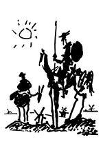 Don Quixote poster! Black and White Novel Ingenious Man Miguel de Cervantes New