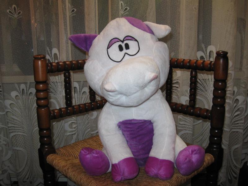 Vintage Walibi Belgium Amusement Park Cow Plush Toy