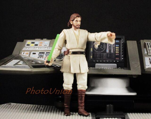 "Hasbro Star Wars 3.75"" Figur 1:18 Obi Wan Kenobi Jedi Master ATOC 2008 S292"