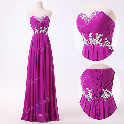 Empire Waist Long Formal Prom Party Cocktail Evening Dresses Wedding Maxi Gowns