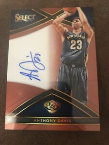 Anthony Davis 2015 16 Panini Select Autograph On Card Auto