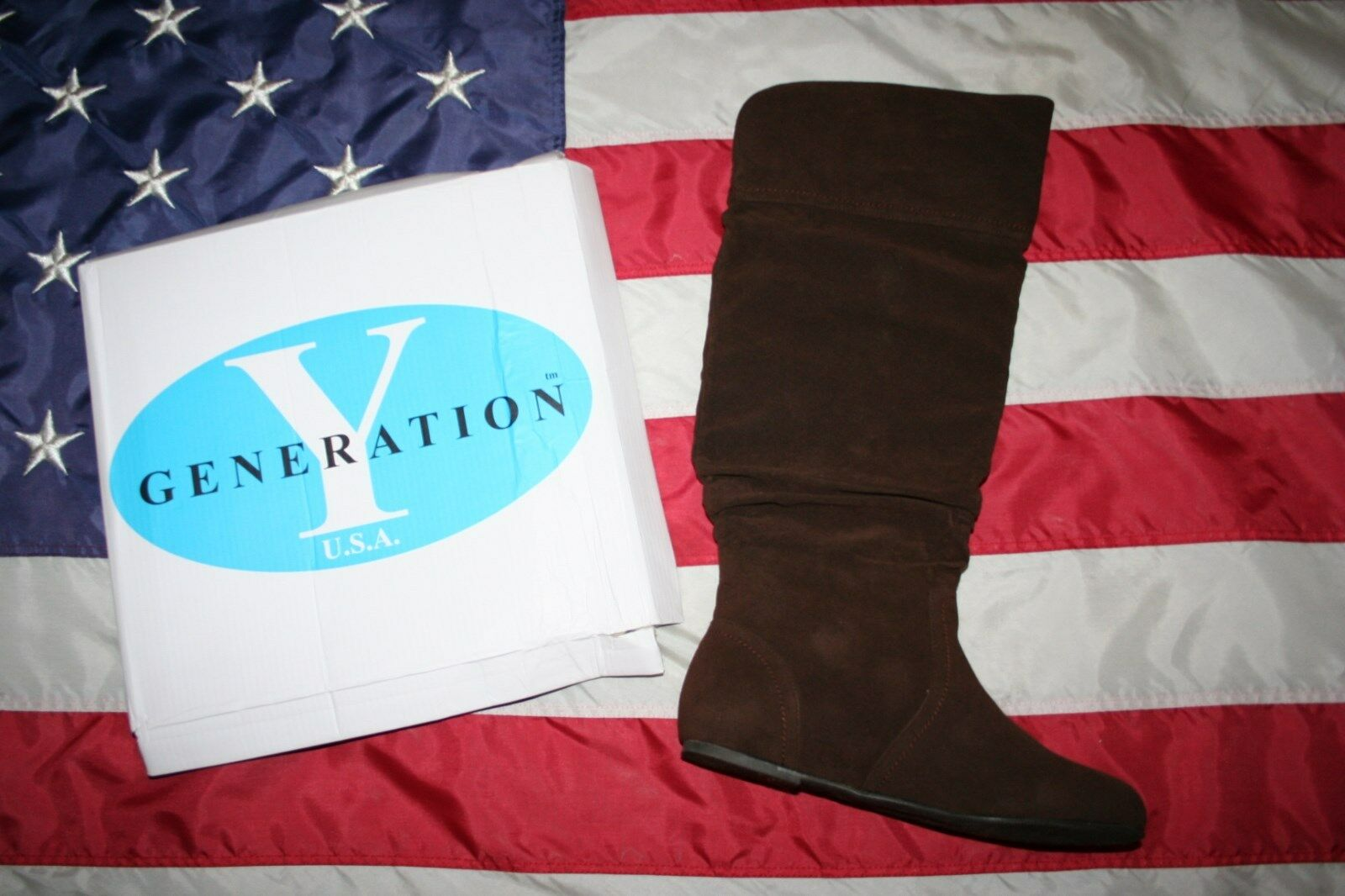 Y Generations Women Slouch Knee Boot Size 8.5  peasant country western