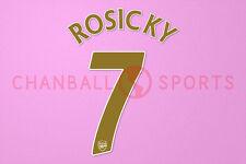 Rosicky #7 2007-2008 Arsenal UEFA Champions League Homekit Nameset Printing