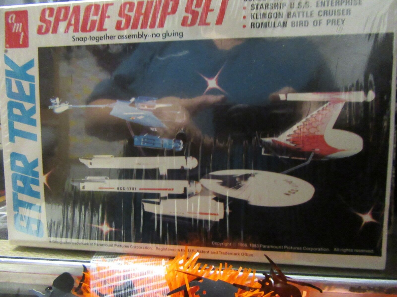 stjärna Trek Space Ship Set Plastic modellllerler Kit NIB