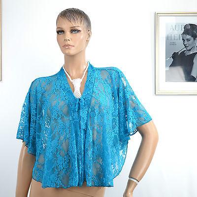 Unito Gilet Femme Bleu Vert 38 40 42 44 46 48 50 52 Bolero Dentelle Isa Zaza2cats Ottima Qualità