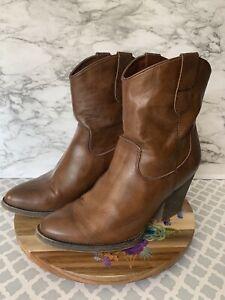 Cowboy Booties, Brown Sz 11M, EF2