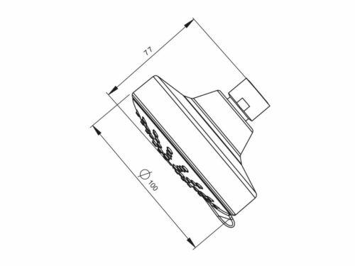 Posh SOLUS MK3 WALL SHOWER ROSE 100mm 3-Function 7.5Litres//Min CHROME
