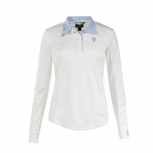 Show Shirt UV Protection 10-16 New Horze Ladies Long Sleeve White Competition
