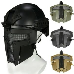 Outdoor-Warrior-Iron-Spartan-Fighting-Mesh-Mask-Hunting-Airsoft-Protective-Mask