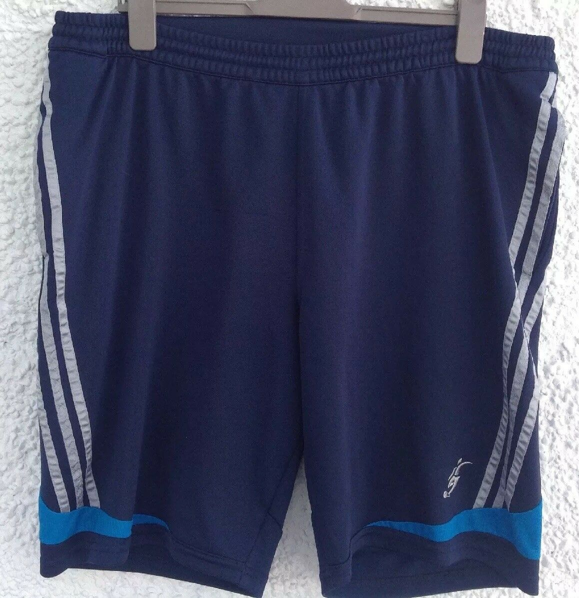 Adidas bleu marine XL Extra Large Homme Short Homme Large Bleu Marine Bleu, Argent Rayures 3 Lions 61db92