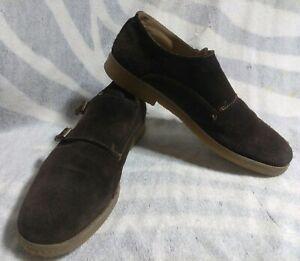 aldo brown suede double monk strap casual shoes men's