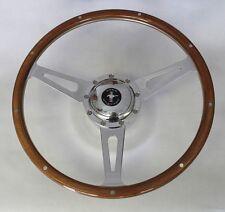 "70-77 Mustang Cobra Style 9 Hole Wood Steering Wheel 15"" Mustang Center Cap"