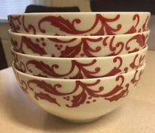 Ciroa Holly /& Flowers Holiday Porcelain Nesting Bowls Set of Three New