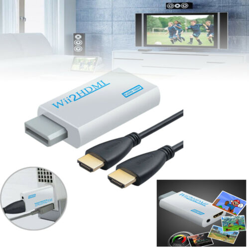 1080P HD Wii to HDMI//WII2HDMI Converter Video Converter Adapter With HDMI Cable