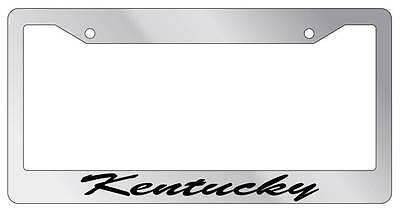 Chrome METAL License Plate Frame CLEVELAND CURSIVE Auto Accessory 1192
