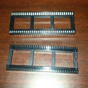 2pcs 64pin 64P 1.778mm Pitch DIP IC Sockets Adaptor Solder Type Socket
