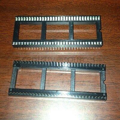 2pcs 64pin 64P Pitch DIP IC Sockets Adaptor Solder Type Socket