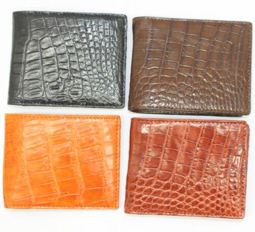 Crocodile Leather Men/'s Bifold Wallet DOUBLE SIDE Genuine Crocodile #WD2101