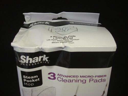 Shark Steam Pocket Mop Cleaning Pads Damaged Box 6 4 Rectangle /& 2 Triangle