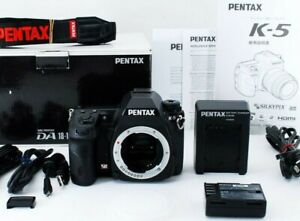 Pentax-K-K-5-16-3MP-Digital-SLR-Camera-Black-Body-From-Japan-EXCELLENT