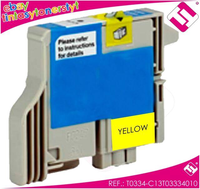 Ink Yellow T0334 Printer Stylus Photo 950 Cartridge Yellow Compatible