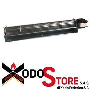 Xodo Store Ventola tangenziale per Stufa a Pellet CADEL Dimensioni Bocchetta: 304x40 mm EDILKAMIN Lunghezza Totale: 390 mm