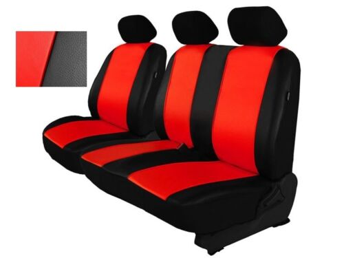 T5 Red Eco-Leather Universal VAN Seat Covers 2+1 for Volkswagen Transporter T4