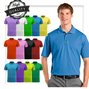Men-Polo-Shirt-Dri-Fit-Golf-Sports-Cotton-T-Shirt-Jersey-Casual-Short-Sleeve-M-L