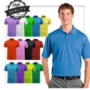 Hommes-Polo-Shirt-Dri-Fit-Golf-Sports-Coton-T-Shirt-Jersey-Casual-a-manches-courtes-M-L