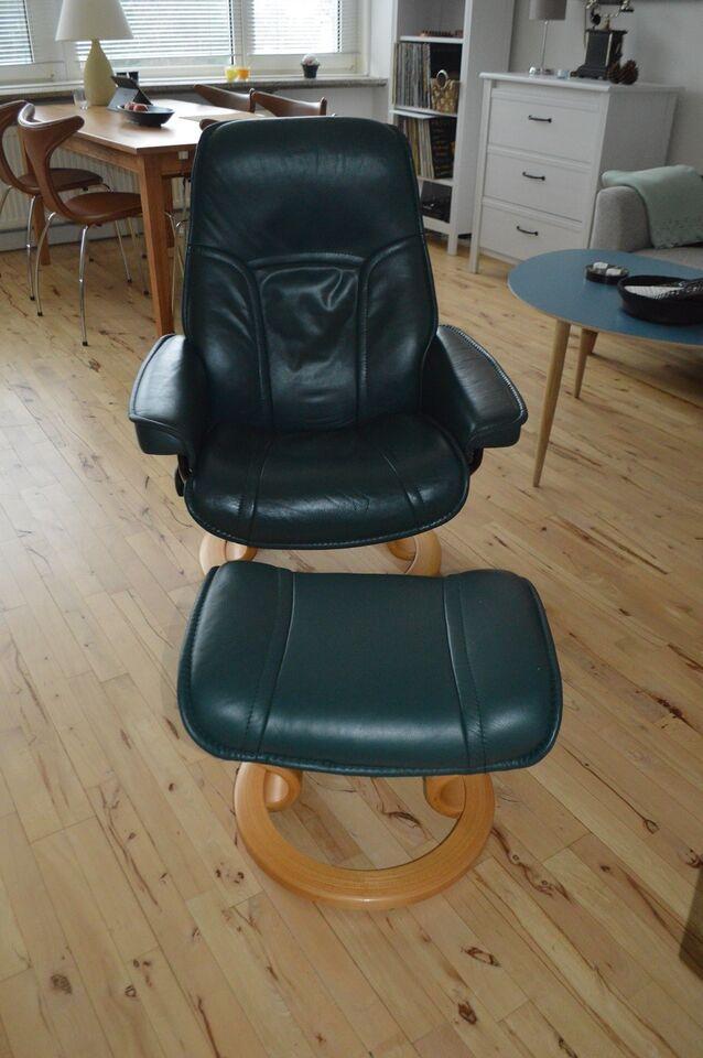 Læderlænestol, læder, Ekornes Norge