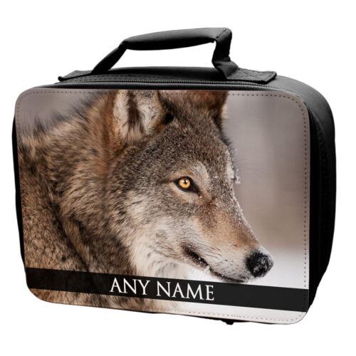 Personnalisé De Loups Animaux Sac-repas École Enfants Arctic Grey nightwolf Cadeau