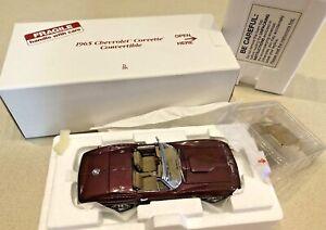 Danbury-Mint-1965-Chevrolet-Corvette-Convertible-Die-Cast-1-24-NIB