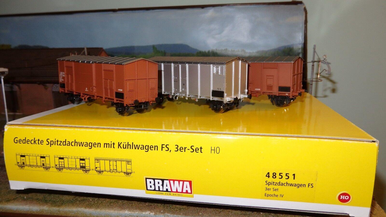 BRAWA 48551 Set 2 autori F aeratori doppi e singoli,  frigo Hg passo lungo, FS