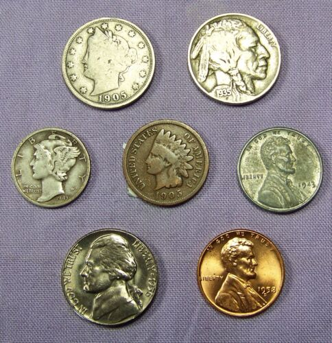 Mercury Silver Dime Starter Collection Lot of 7 Old US Coins
