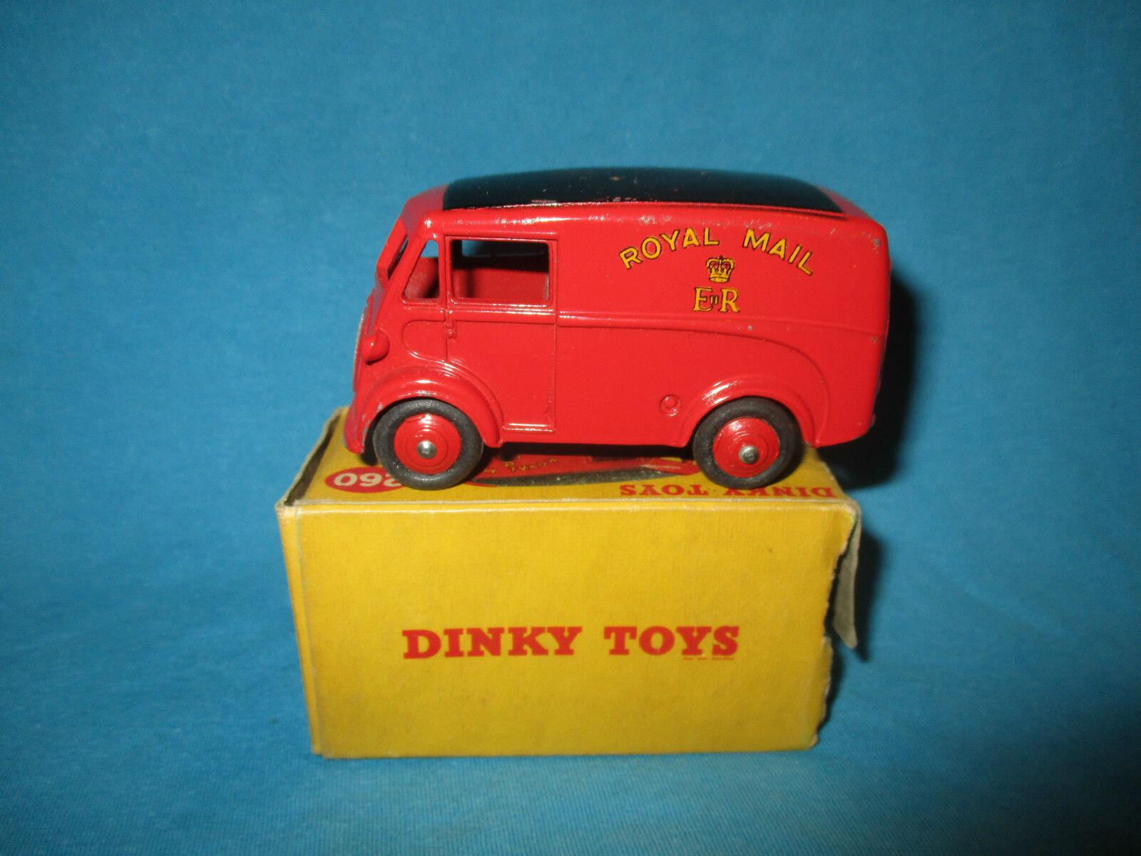 Dinky 260 royal mail morris j van vintage boxed 1955
