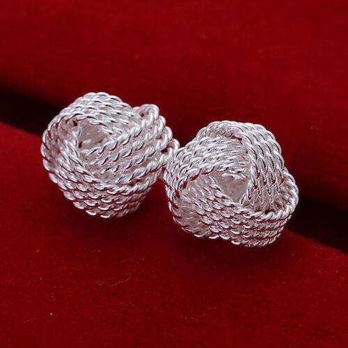 Argent Sterling 925 Plaqué femmes Fashion Jewelry sur solide cuivre Boucles d/'oreilles cadeau