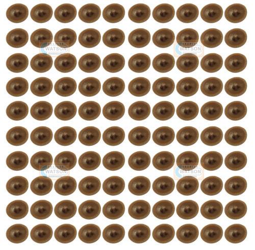 Pack 100-Teck supatop plastique Pozi vis à tête TOP COVER CAP cabinet furniture