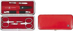 GEMELLO-Classic-Set-Manicure-5-pz-in-ROSSE-CUSTODIA-PELLE-CAPRA-nr-97281-003