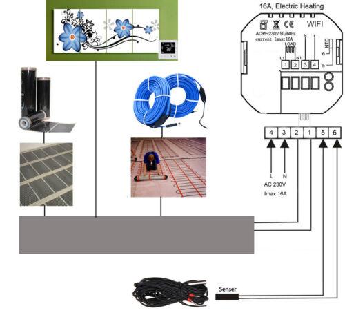 Termostato Wifi thermostat Alexa Boiler underfloor Heating Smart Room thermostat