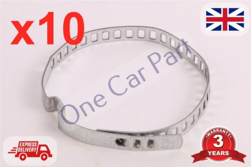 10x UNIVERSAL STAINLESS STEEL CLAMP CLIP FOR DRIVESHAFT CV JOINT BOOT 7x245mm