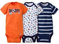 Gerber Baby Boy Onesies Bodysuits Variety 3-pack Baby Shower Gift - Orange -