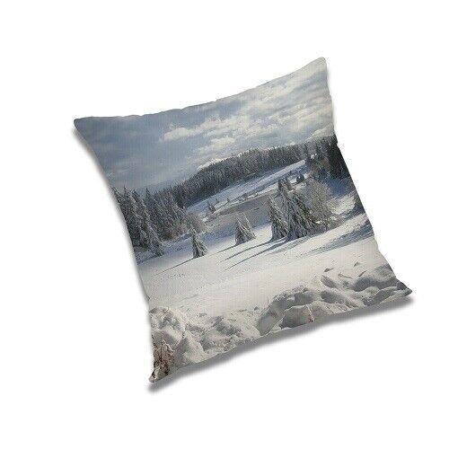 Kissenbezug Quadratischem Polyester Schneefall-Naturdruck 30 Bis 60 Kissenbezüge
