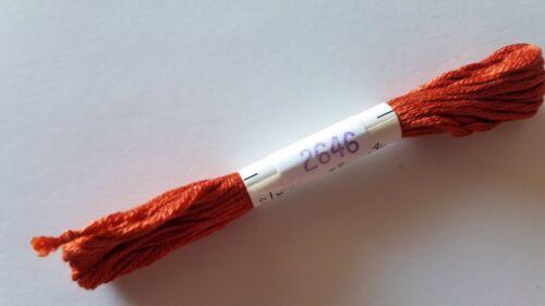 Au Ver a Soie Soie d/'Alger 7 ply Silk Floss 2000 Range You Choose  Colors