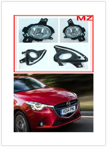 For 15-17 Mazda 2 Fog Lights Driving Lamp Set Pair Assembly Kit OE Replacement
