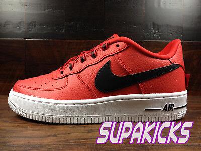 Nike Air Force 1 LV8 NBA AF1 [820438 606] (University RedBlack) GS Boys Womens | eBay